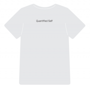Quantified Self t-shirt (back)