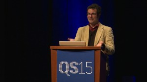 Morgan Friedman at QS15 Conference & Expo, San Francisco