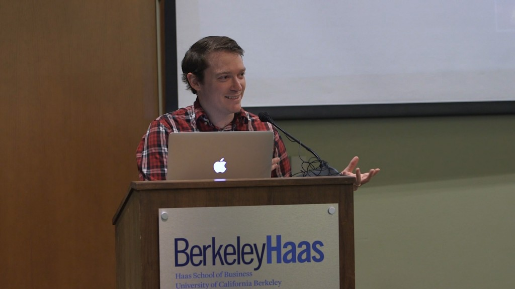 "Steven Jonas presents ""Spaced Listening"" in Berkeley at the Haas School of Business"