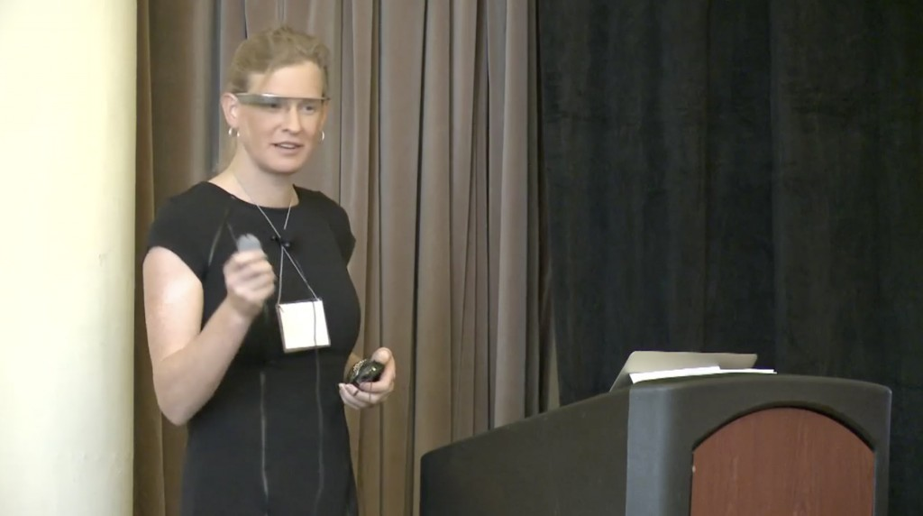 Vivienne Ming presents her talk at the 2013 QS Global Conference